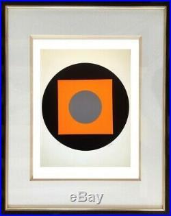 Lucienne Olivieri (1910-2007) Lithographie Originale Constructiviste Vers 1950