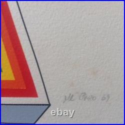 Lucio Del Pezzo Lithographie Sur Arches Signée Numerotée III/X de 1969