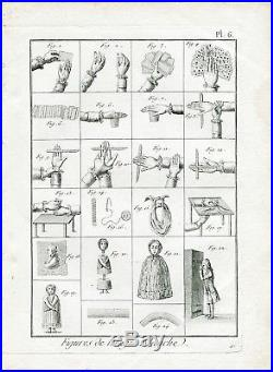 MAGIE BLANCHE XVIII ème Siècle Très Rare lot de 11 Gravures sur la Magie 1792