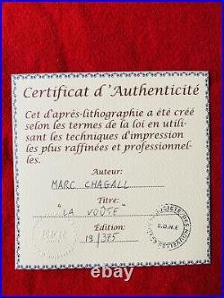 MARC CHAGALL LE VOUTé LITHOGRAPHIE SIGNED