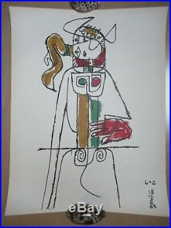 MODERN ART GRAPHIC CUBISM Le CORBUSIER LITHOGRAPHIE TAUREAU LITHOGRAFIE c. 1963