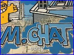 M CHAT, plan de métro numéroté /50 très rare, banksy, jonone, thoma vuille