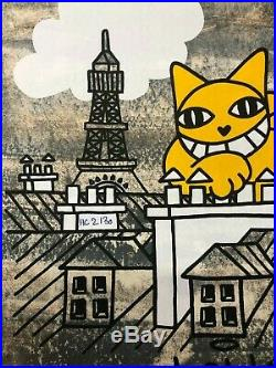 M. Chat (Thoma Vuille) Chat fait le Mur S/N