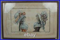 Magasin des modes nouvelles. 1786 gravure costumes coiffes Desrais Duhamel