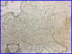 Mapa Polski Guillaume de l`Isle 1675 1726 Lietuva Lituanie Polska 1708