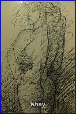 Marcel Gromaire, Nu 1952 lithographie signée, datée, expressionisme, art moderne
