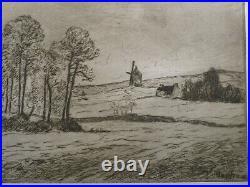Maxime MAUFRA RARE GRAVURE ORIGINALE MORGAT CROZON BRETAGNE ECOLE PONT AVEN 1908