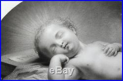 Michel Alfred Chardon (1830-1897) Le sommeil de l'Enfant Jésus gravure ancienne