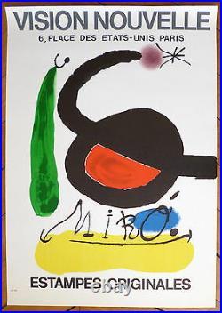 Miro Joan Affiche originale lithographie abstraction art abstrait surréalisme