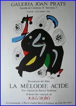 Miro Joan Affiche originale lithographie art abstrait abstraction surréalisme