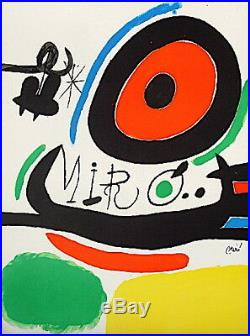 Miro Joan Lithographie sur velin signée 1970 art abstrait abstract surréalisme