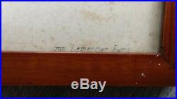 Mont Blanc Lithographie la flechere Chamonix dessin Deroy, lith. Par Müller. 1850