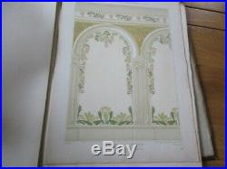 Mulier Peintures D' Art Nouveau Decoration Murales Plafond 40 Lithographies 1900