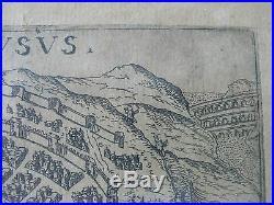 NIMES TRÈS ANCIENNE GRAVURE DE NEMAUSUS GARD XVIè /XVIIè 17 x 12,5 cm
