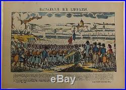 Napoléon Ier Imagerie d'Epinal Bataille de Lutzen Vers 1860