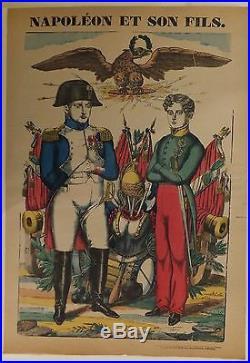 Napoléon Ier Imagerie d'Epinal Napoléon et son fils Vers 1860