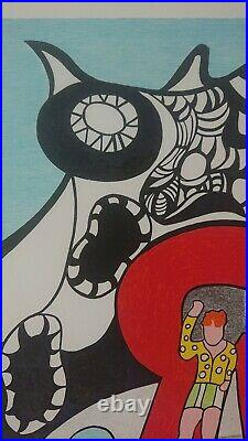 Niki de Saint Phalle LE GOLEM Jerusalem 1972 Sérigraphie lithographie Signée