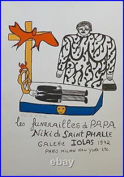 Niki de Saint Phalle affiche litho signée galerie Iolas 1972 Paris New York P297