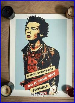 Obey Shepard Fairey Sid Vicious Limited Signed