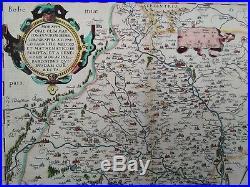 Old Map - Abraham Ortelius - Moravia Bohemica - 1573 Latin B Version