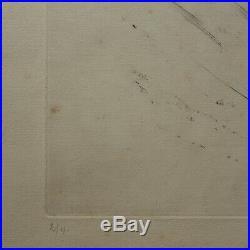 Othon COUBINE 1883-1969 Hungary NU ESTAMPE numéro 2/40 feuillure 40 x 45 cm