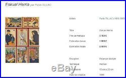 PABLO TILLAC ESKUAL HERRIA 2 POCHOIR ESTAMPE / LITHOGRAPHIE era ARRUE, FLOUTIER