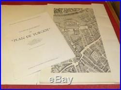 PARIS en 1739 FAC-SIMILE PLAN DE TURGOT Complet 20/20 Planches +notice Ed 1966