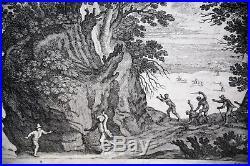 PAYSAGE ITALIEN-PAUL BRIL-W. VAN NIEULANDT-ECOLE HOLLANDAISE-GRAVURE XVII èmè