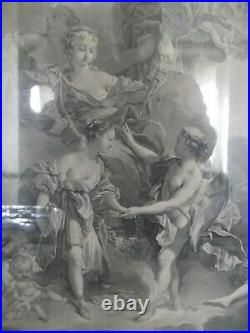 Paire de grandes gravures XVIIIe d'après François BOUCHER