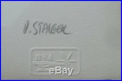 Paul Staiger 1941 lithographie UN Plaza extrait du DOCUMENTA de 1972