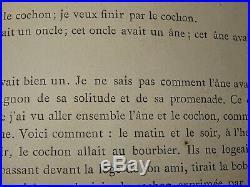 Paul VAN RYSSEL (1828-1909) GRAVURE COCHONS DR GACHET VAN GOGH IMPRESSIONNISME