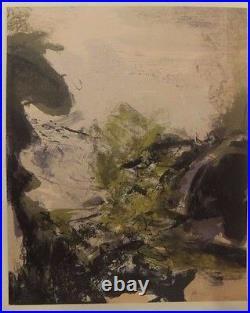 Paysage, lithographie de Zao Wou-Ki pour la Revue XXe Siècle, 1971