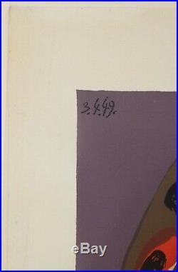 Picasso (d'après) Deschamps lithographie le corsage rayé 1978