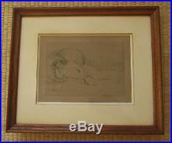 Pierre Auguste Renoir Estampe Gravure Nu Allonge Vers La Gauche 1906 Print Nude