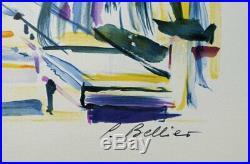 Pierre BELLIER NICE Le Negresco LITHOGRAPHIE signée et numérotée #250ex