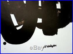 Pierre SOULAGES Lithographie n°29 LITHOGRAPHIE ORIGINALE # 1972