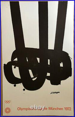Pierre SOULAGES Lithographie n°29 lithographie originale imprimée par Mourlot
