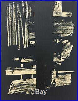 Pierre SOULAGES, Lithographie n°9 / Original lithograph print