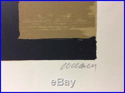 Pierre SOULAGES (Né en 1919). Lithographie 35 1974. Signée et numérotée