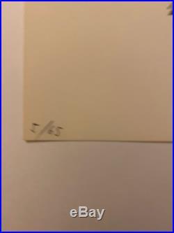 Pierre SOULAGE Lithographie originale signée au crayon Art de vivre