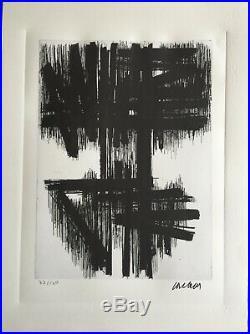Pierre Soulages Lithographie Signée Et Numérotée
