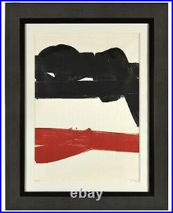 Pierre Soulages (Né en 1919) Lithographie 27 1969. Signée et numérotée