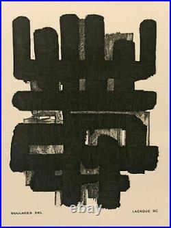 Pierre Soulages gravure 1986 (lithographie numéro 3)