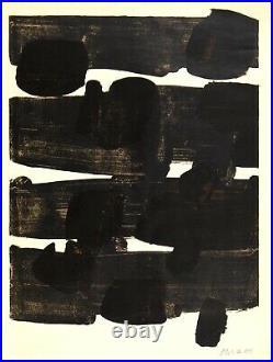 Pierre Soulages (né 1919) Lithographie n°12, 1964. Signée au crayon