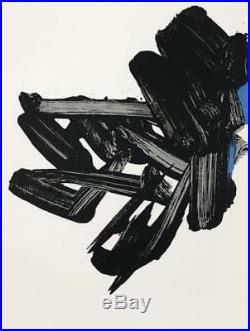 Pierre Soulages (né en 1919). Lithographie n° 17. P. Berès éditeur