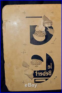 Pierre lithographique d'imprimerie, étiquette camembère Le Bèdert XIXème