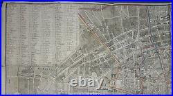 Plan Routier de la Ville et Faubourg de Paris Divisé en 12 Mairies 1800