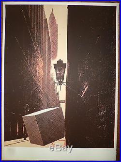 Pol Bury Lithographie signée numérotée Abstraction figuration cinétique art