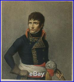 Portrait Napoléon Ier. Gravure rehaussée en couleur Bonaparte à Milan XIXème S