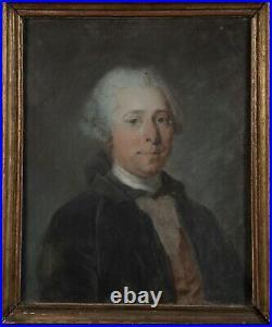 Portrait Pastel 18 Comte de Polastron 62x52 cm Marie-Antoinette Versailles